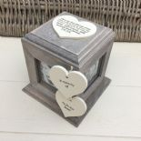 Shabby Chic In Memory Of BROTHER Or ANY NAME Rustic Wood Personalised Photo CUBE - 232994695969